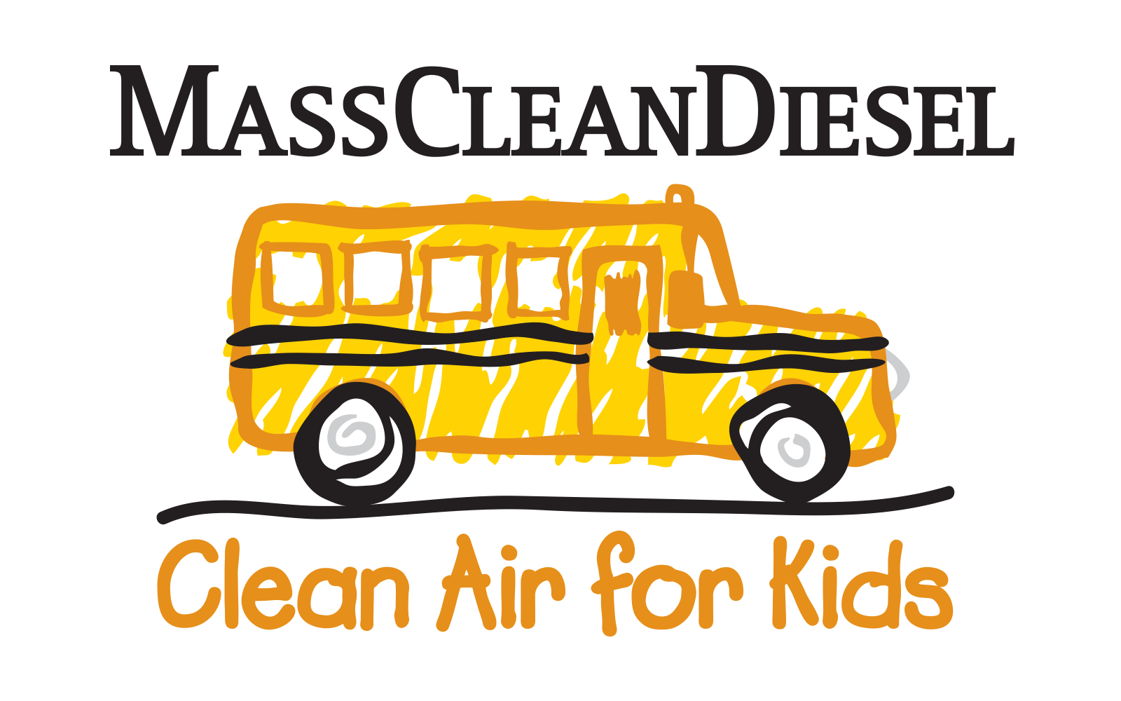 "MassCleanDiesel logo: with the slogan ""Clean Air for Kids"""